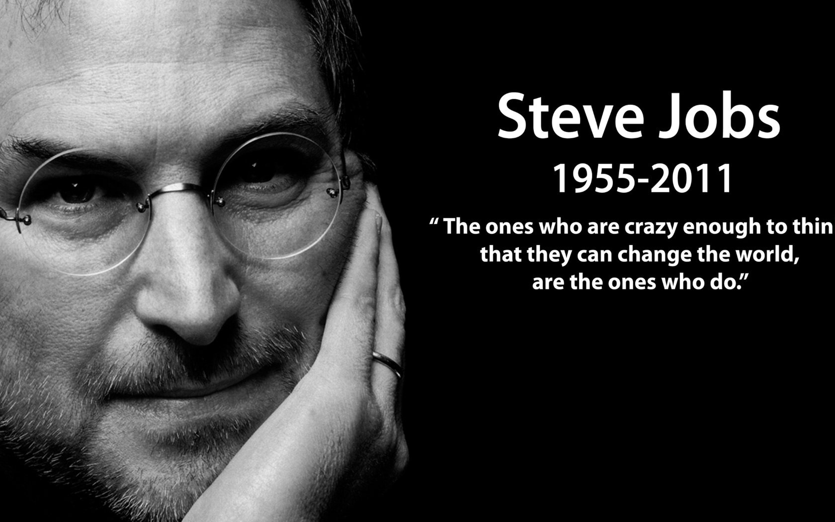 Steve Jobs with Quote
